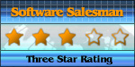 Three Star Award from Software Salesman